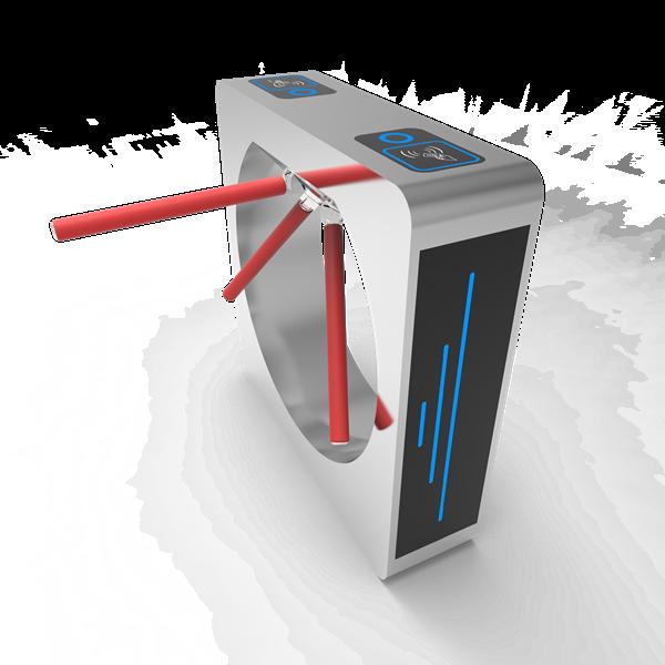 High Quality Tripod Turnstile Face Recognition Temperature Detector Half Height Pedestrian Turnstile