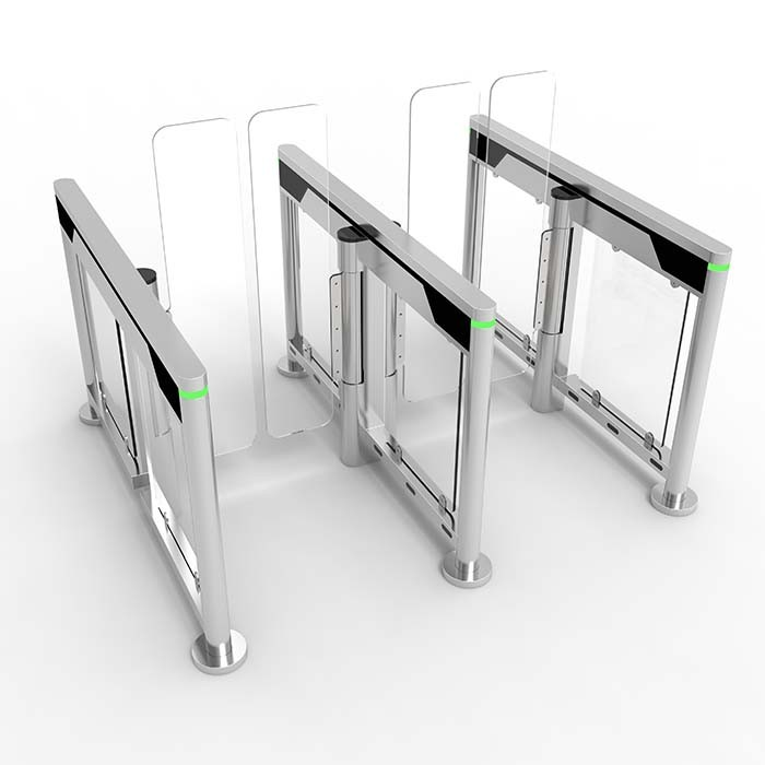 Slim full height automatic security speed gate with face recognition for office