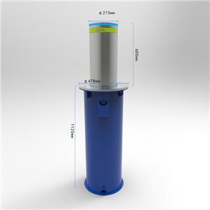 Retractable Hydraulic Rising Bollard Remote Control Full Automatic Bollard