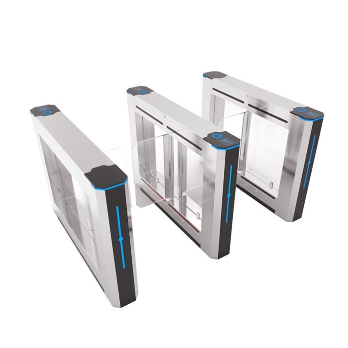 Office building Access control swing barrier acrylic swing door