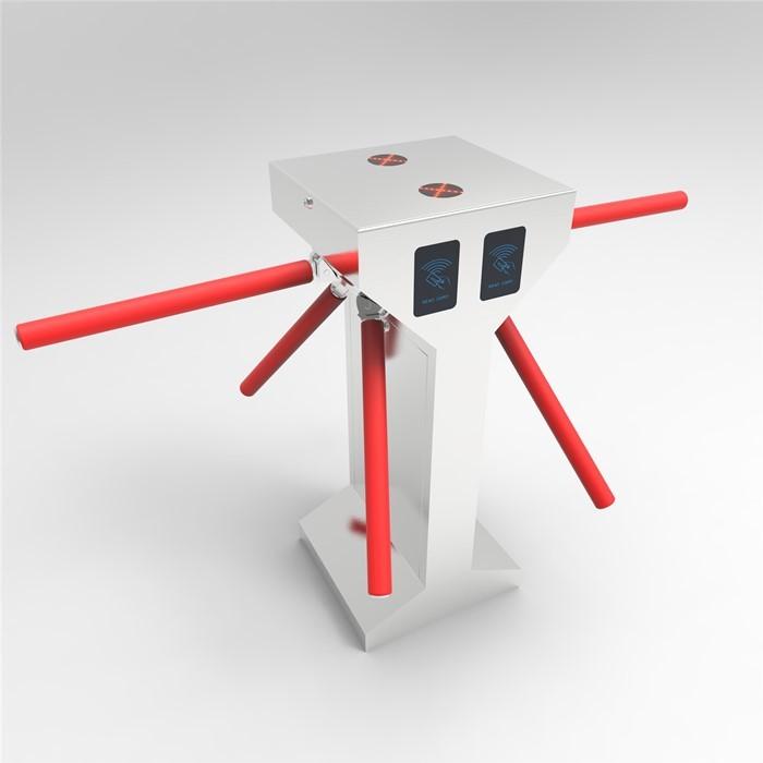 Combine turnstile tripod and swing gate double motor gate