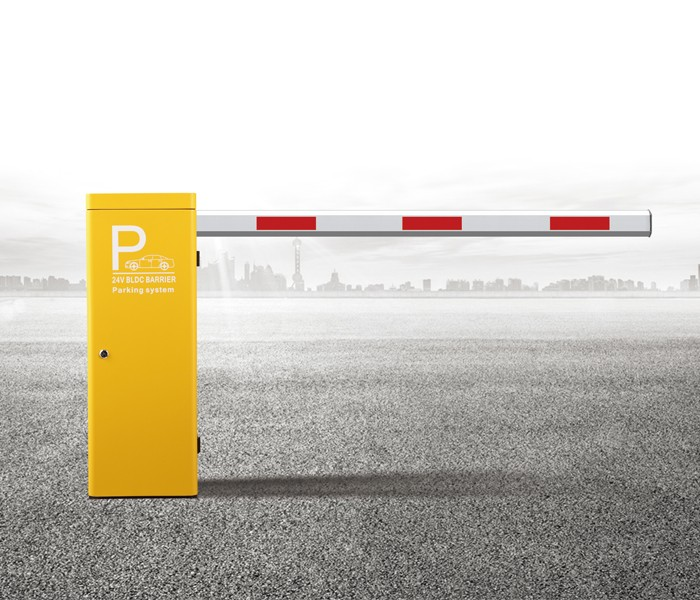 Traffic road boom barrier remote control operate smart straight barrier