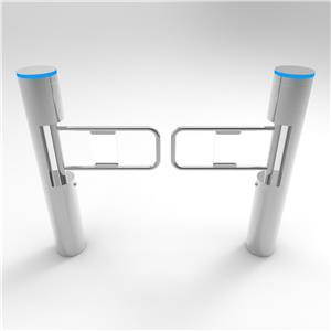 Slim Cylinder Supermarket Full Automatic Access Control Swing Barrier Gate