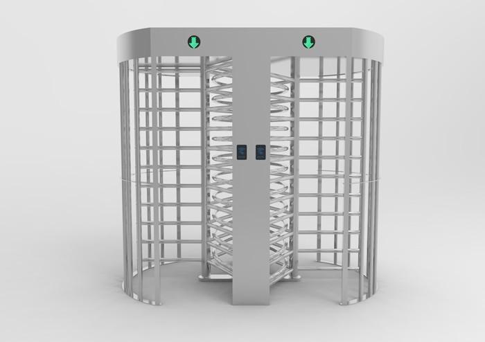 304 stainless steel Dual Passage RFID card reader fingerprint QR code Full Height Turnstile