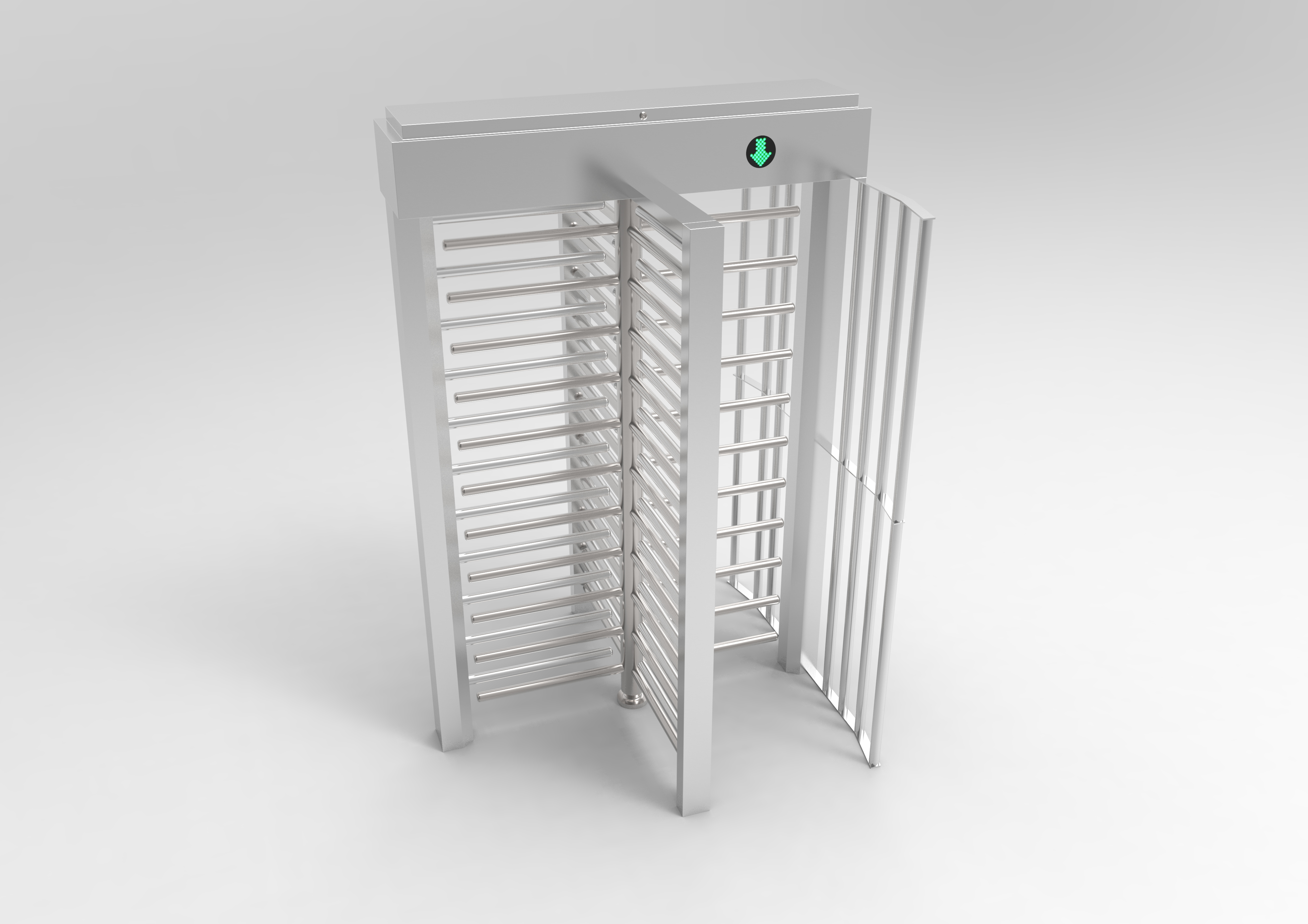 304 stainless steel school station Full Height Turnstile Gate outdoor