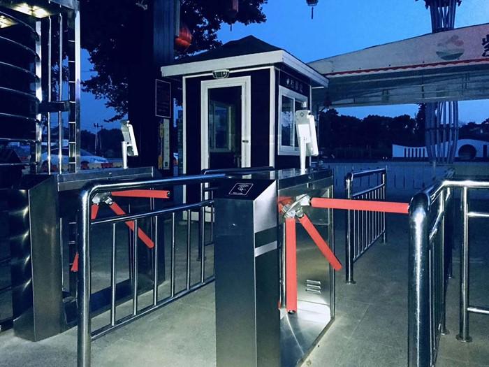 barriera pedonale rfid card tester esd impronte digitali qrcode metodi di accesso opzionale bridage style treppiede tornello cancello barriera
