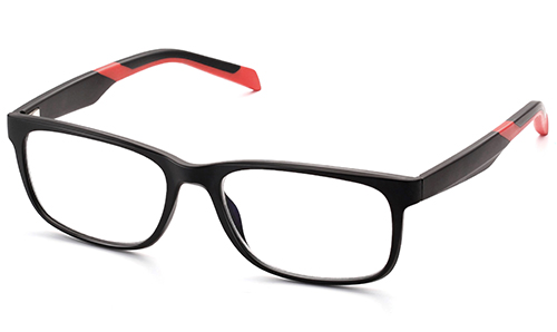 Unisex Rectangle Urban Sports TR90 Memory Plastic Reading Glasses