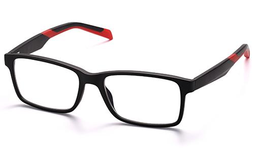 Man Rectangle Urban Sports TR90 Memory Plastic Reading Glasses
