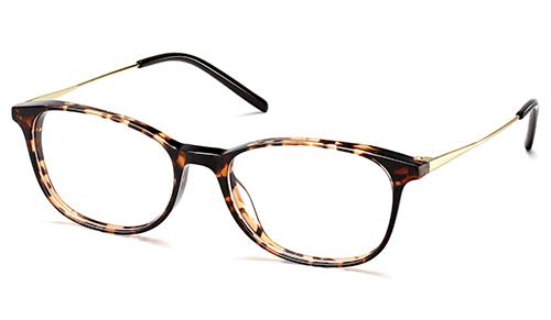 Unisex Round Ultra Slim Acetate Combo Eyeglass Frame