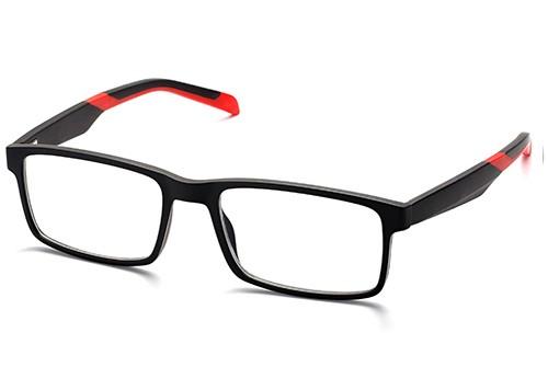 Man Rectangle Urban Sports Memory Plastic TR90 Reading Glasses