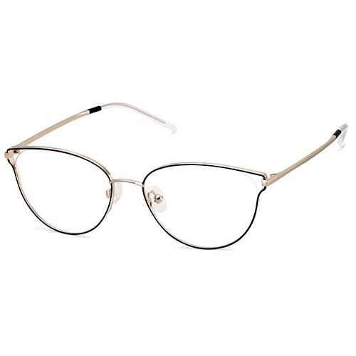 Cateye Stainless Steel Hollow Design Eyeglass Frame