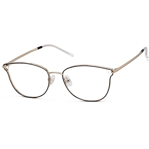 Lady Stainless Steel Hollow Design Eyeglass Frame