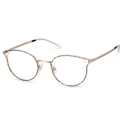 Woman Stainless Steel Hollow Design Eyeglass Frame