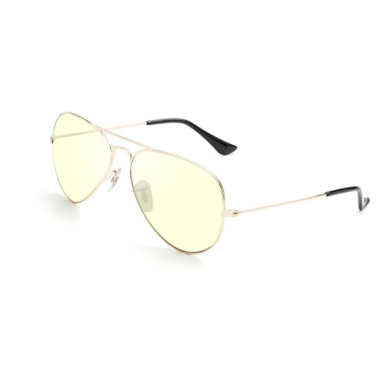 Aviator Metal Frame และ Blue Light Blocker Glasses