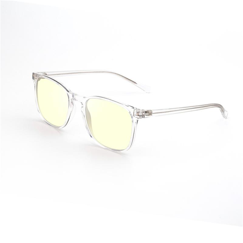 High Quality Square TR90 Memory Plastic Frame with Blue Light Blocking Lens