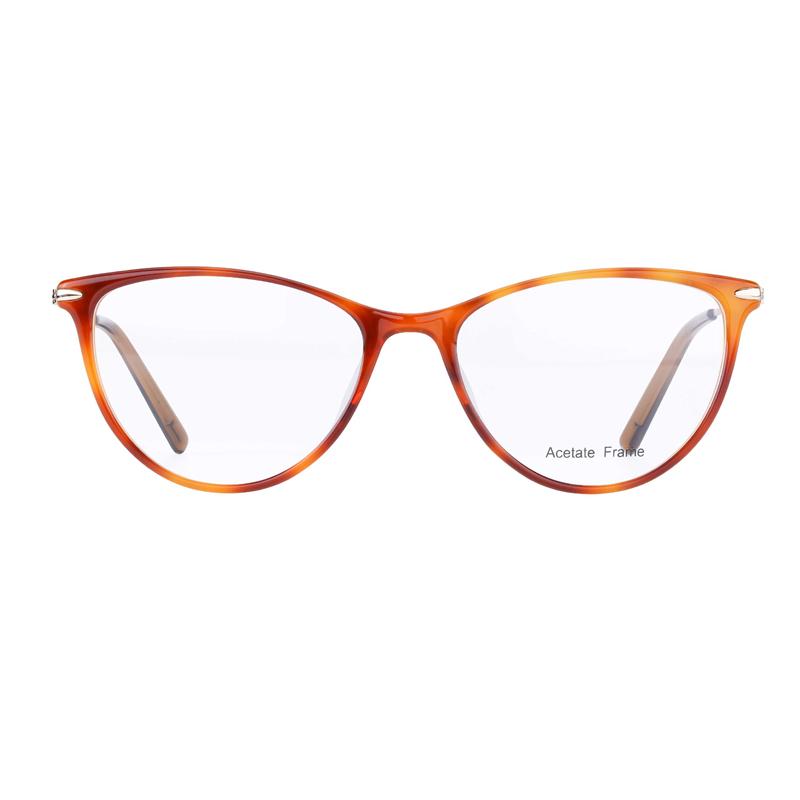 Ladies Cat Eye Shape Acetate Eyeglasses Optical Frames Manufacturers, Ladies Cat Eye Shape Acetate Eyeglasses Optical Frames Factory, Supply Ladies Cat Eye Shape Acetate Eyeglasses Optical Frames