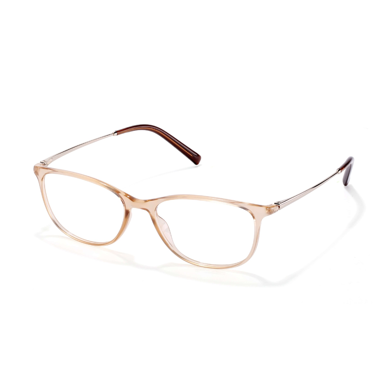 Round Style Eyeglasses ß-Plastic Durable Frame for Women