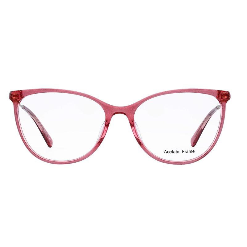 Acetate Optical Frame Women Cat Eye Shape Eyeglasses Manufacturers, Acetate Optical Frame Women Cat Eye Shape Eyeglasses Factory, Supply Acetate Optical Frame Women Cat Eye Shape Eyeglasses