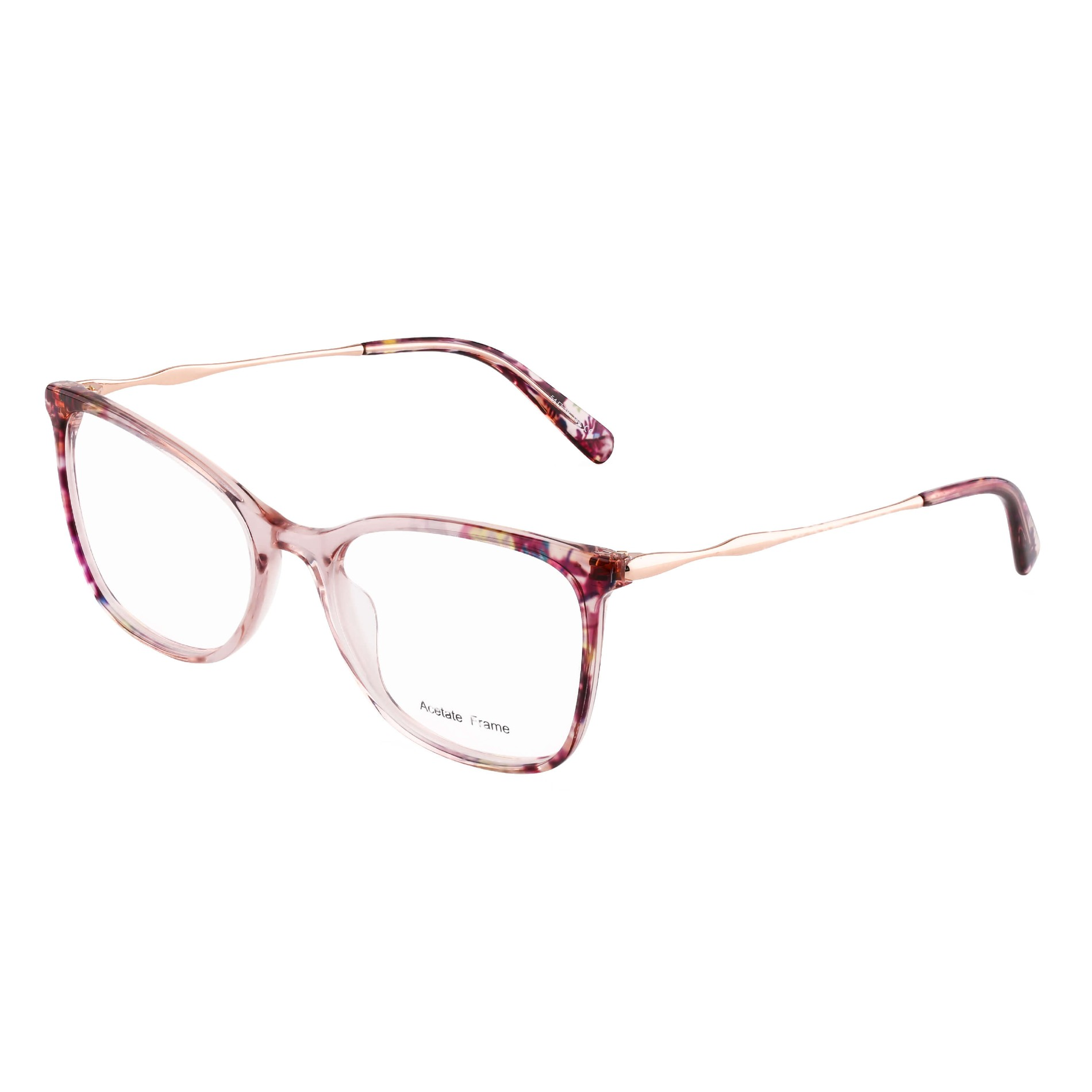Ladies Full Colour Mixture Acetate Frames with Metal Temple