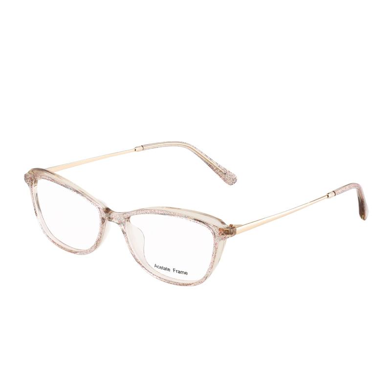 Trendy Cat Eye Glasses Acetate Frames Eyewear