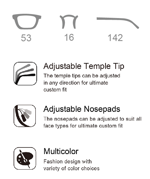 Montura de anteojos de acero inoxidable