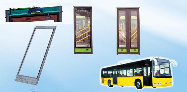 Electric inswing bus door