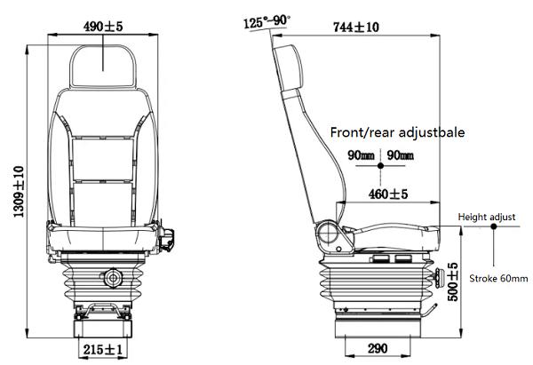 air suspension driver seat