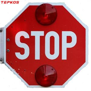 School Bus Lighted Stop Sign Or Parking Plate