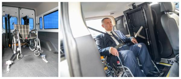 bus wheelchair fixing device
