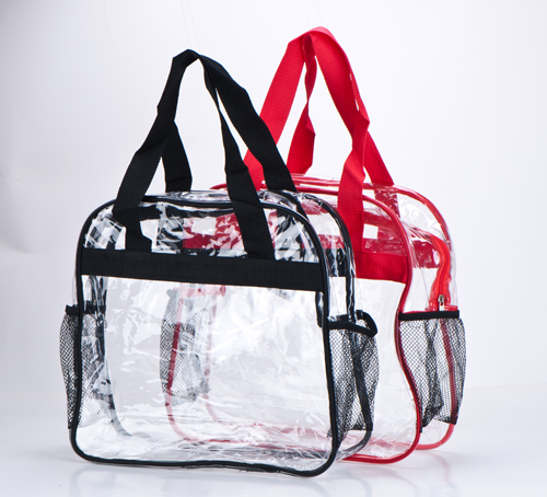 Clear Inside View Zippered Pocket Tote Manufacturers, Clear Inside View Zippered Pocket Tote Factory, Supply Clear Inside View Zippered Pocket Tote