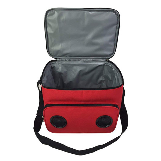 Polyester Blue Tooth Speaker Cooler Bags