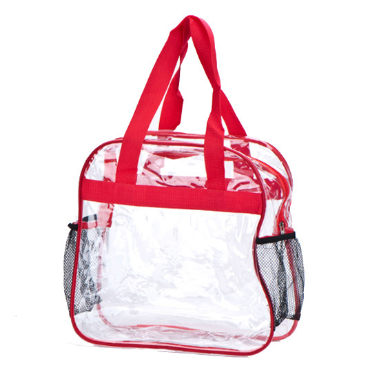 Clear Inside View Zippered Pocket Tote