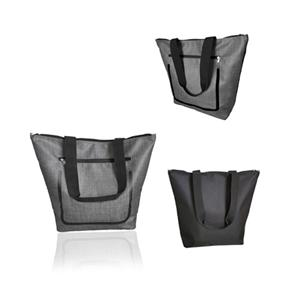 Zippered Polyester Grocery Tote Bags