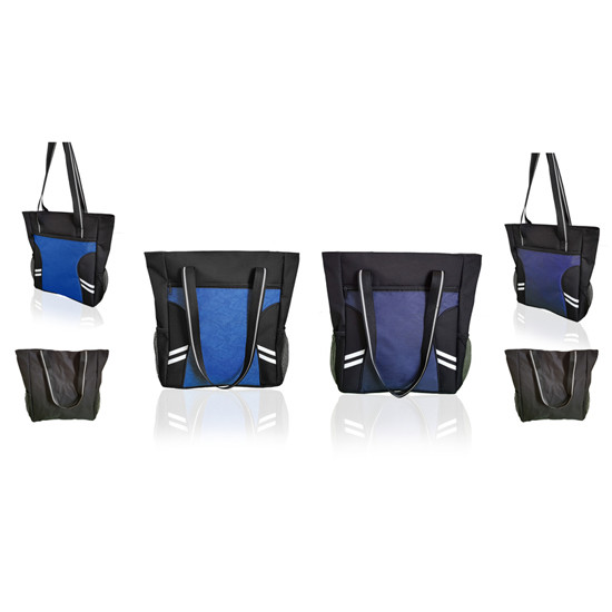 Zippered Polyester TranSport It Tote Bags