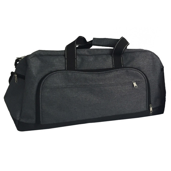 Two Tone Tri-Pocket Sport Duffel Bags