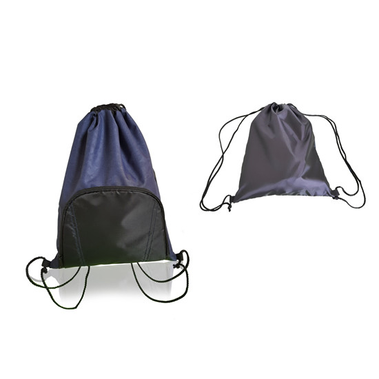 Sport Drawstring Backpack With Zippered Pocket