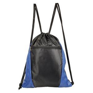 Vertical Polyester Drawstring Backpack