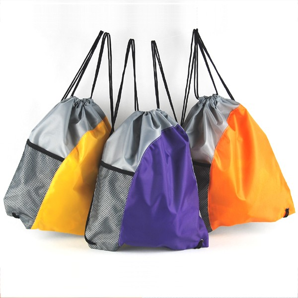 Fashion String Bag Grey String Bags For School with Mesh Pocket Manufacturers, Fashion String Bag Grey String Bags For School with Mesh Pocket Factory, Supply Fashion String Bag Grey String Bags For School with Mesh Pocket