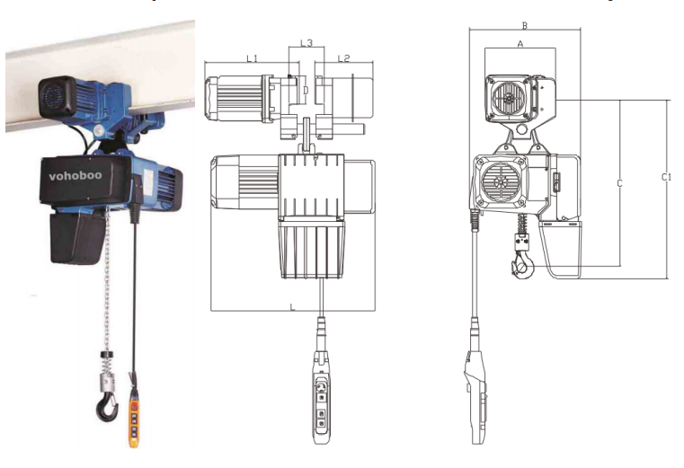 Trave type electric chain hoist