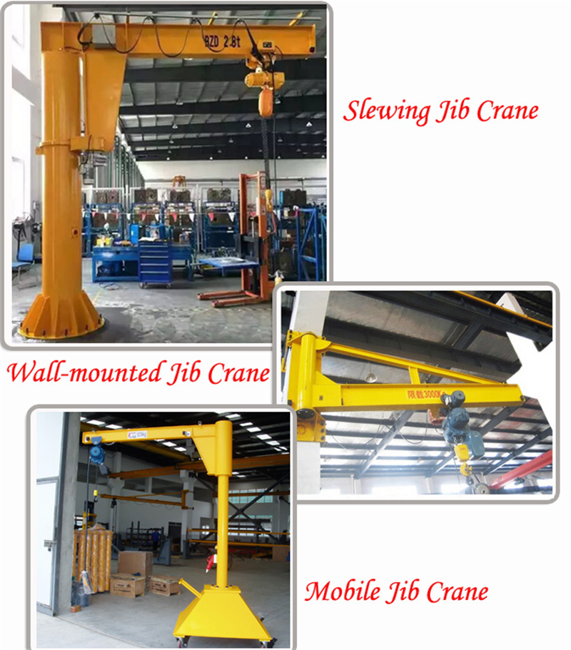 Produce swivel jib crane