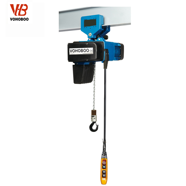 European Type Electric Chain Hoist With Maual Trolley