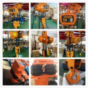 Thai customers!7.5T low headroom electric chain hoist