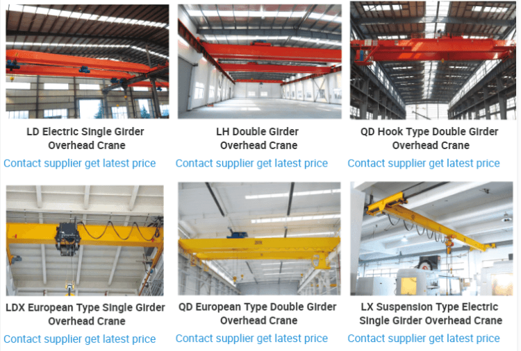 Single girder Crane Factory