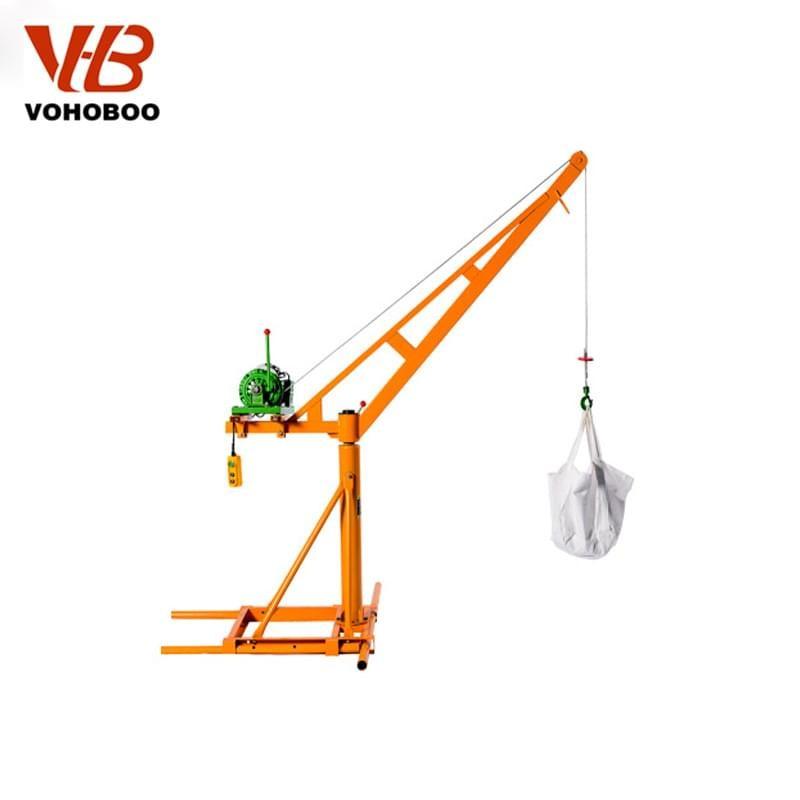 360 Degree Mini Crane With Electric Winch