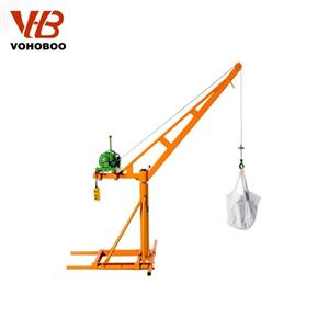 360 Degree Mini Crane With Electric Winch