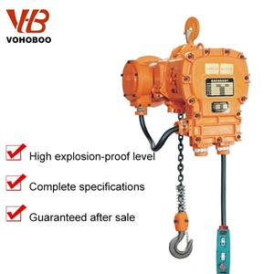 1 -35 Ton Hook Type Trolley Type Explosion-proof Electric Chain Hoist