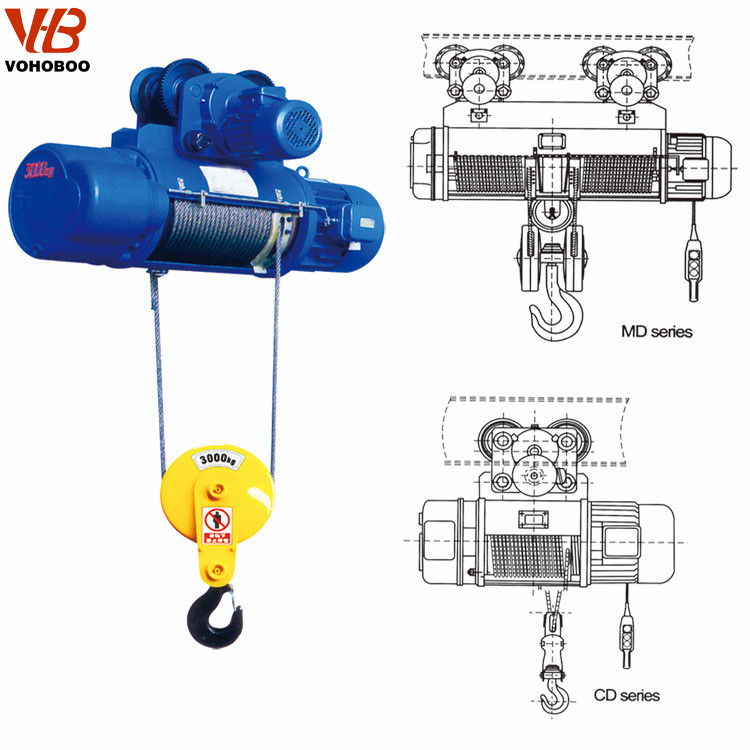 Electric hoist instructions for cleaning electric hoist dust and foreign matter cleaning skills
