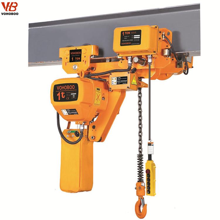 Il paranco elettrico a catena con altezza ridotta può essere utilizzato in officine basse e piccole