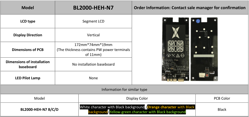 Supply Elevator Segmental display