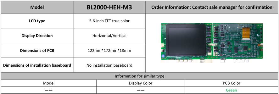 lift LCD indicator